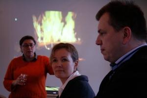 Leena Jokinen, Asta Raami ja Olli Hietanen.